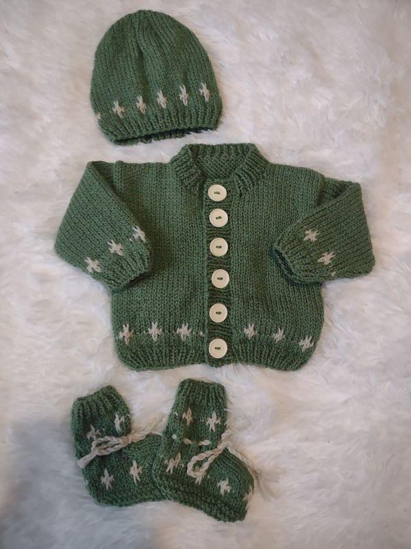 knitting pattern 094 north star cardigan set