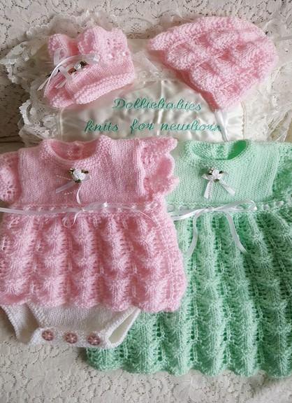 Knitting Pattern 063 Girls angel top set