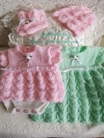 Knitting Pattern 63 Girls angel top set