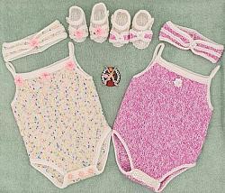 Knitting pattern no 103 Strappy Vest Set