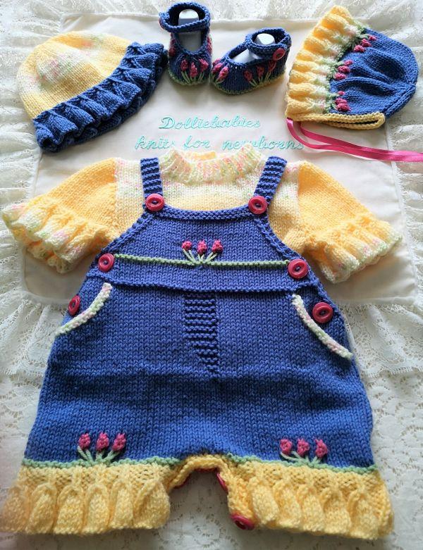 knitting pattern 78 boys and girls dungaree shorts set