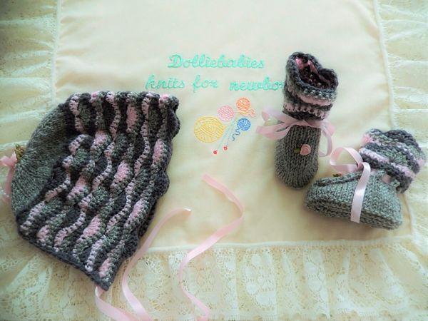 crochet and knit 01 girls matinee set