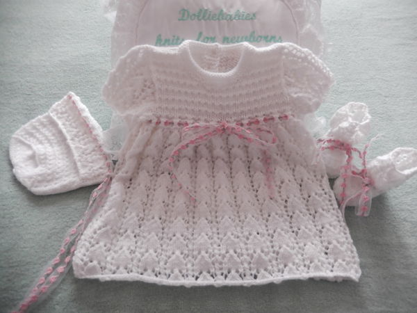 Knitting Pattern 050 Lacy dress set