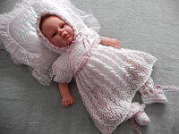 Knitting Pattern 50 Lacy dress set