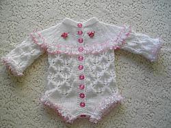 knitting pattern 24 eyelet lace romper vest
