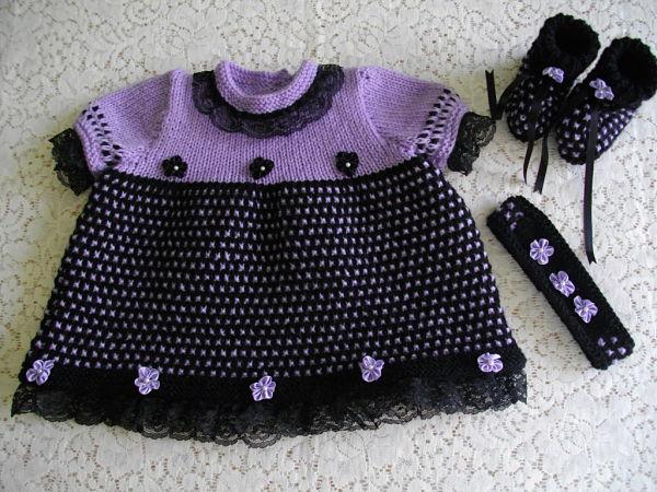 knitting pattern 022 black lace dress set