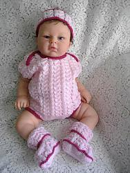 knitting pattern 026 reborn doll only bodysuit