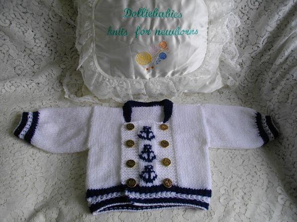 knitting pattern 036 boys sailor suit