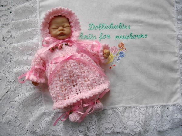 Knitting Pattern 41 Micro preemie dress set