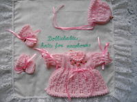 Knitting Pattern 41 Micro preemie dress set