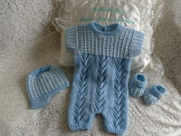 Knitting Pattern 66 Boys summer romper set