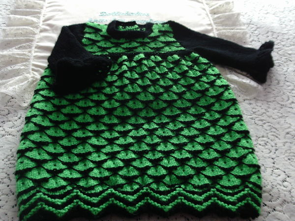 knitting pattern 068 halloween witches dress