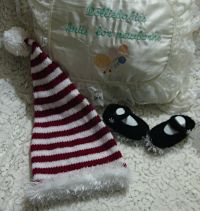 Knitting Pattern 070 Christmas angel top Set