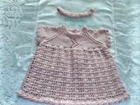 crochet and knit 02 girls dress and headband set